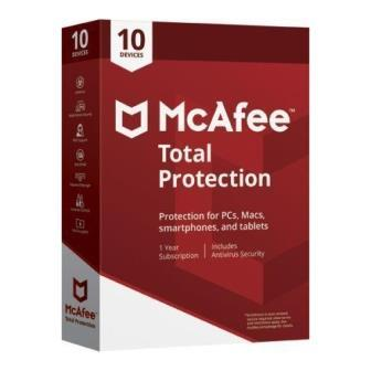 McAfee Total Protection 10 Users - 1 Year  (Single key)