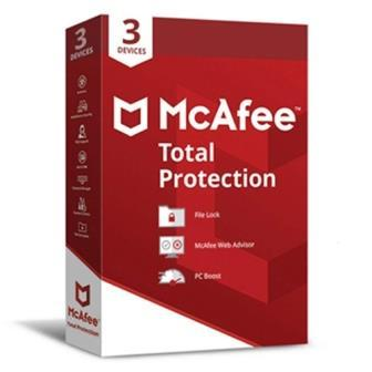 McAfee Total Protection 3 Users - 1 Year (Single key)
