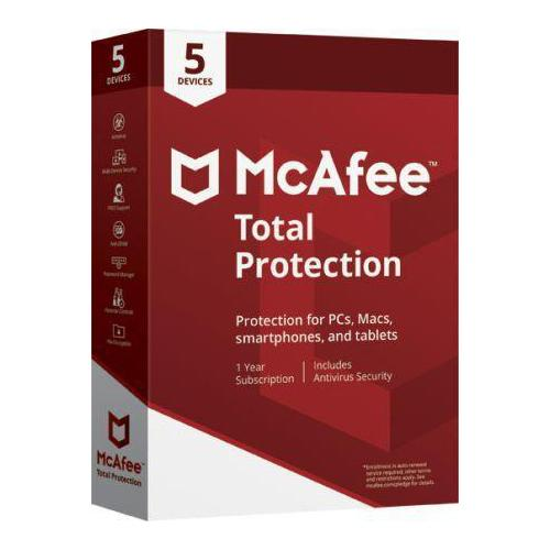 Mcafee Total Protection 5 Users - 1 Year (Single Key)